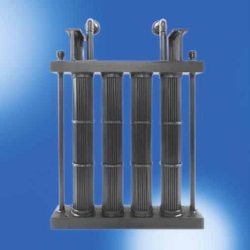 Flächenbündel-Wärmetauscher aus PE