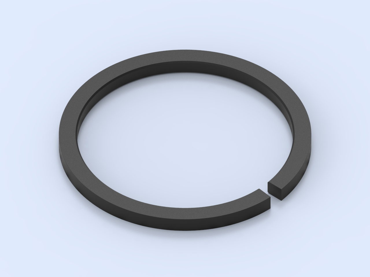 Piston ring - straight joint