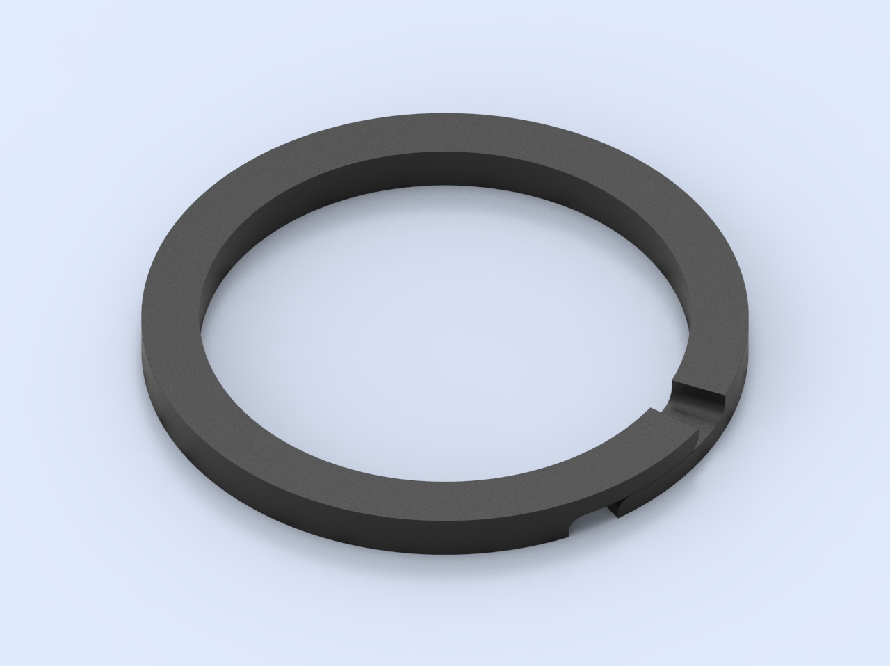 Piston ring - overlapped joint